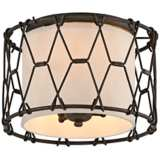 "Buxton 13"" Wide Chain Link Vintage Bronze Ceiling Light"