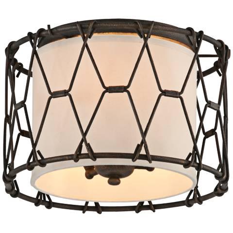 Buxton 13 Quot Wide Chain Link Vintage Bronze Ceiling Light 8r203 Lamps Plus