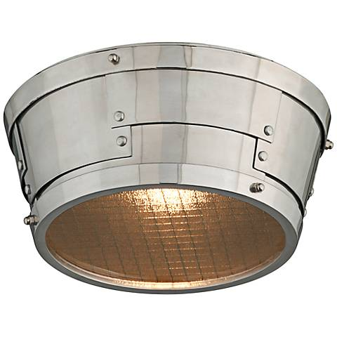"Idlewild 11""W Aviation Salvage Metal LED Ceiling Light"