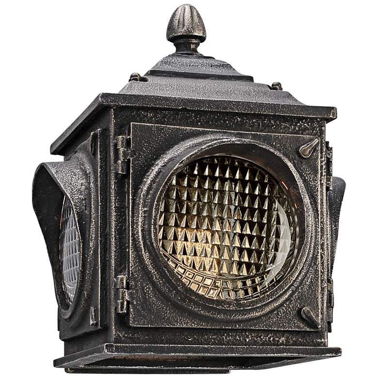 """Main Street 9 3/4"""" High Pewter Vintage Outdoor Wall Light"""