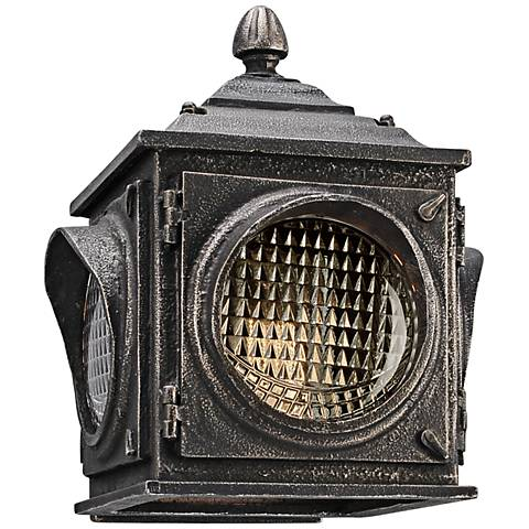 "Main Street 9 3/4""H LED Vintage Pewter Outdoor Wall Light"