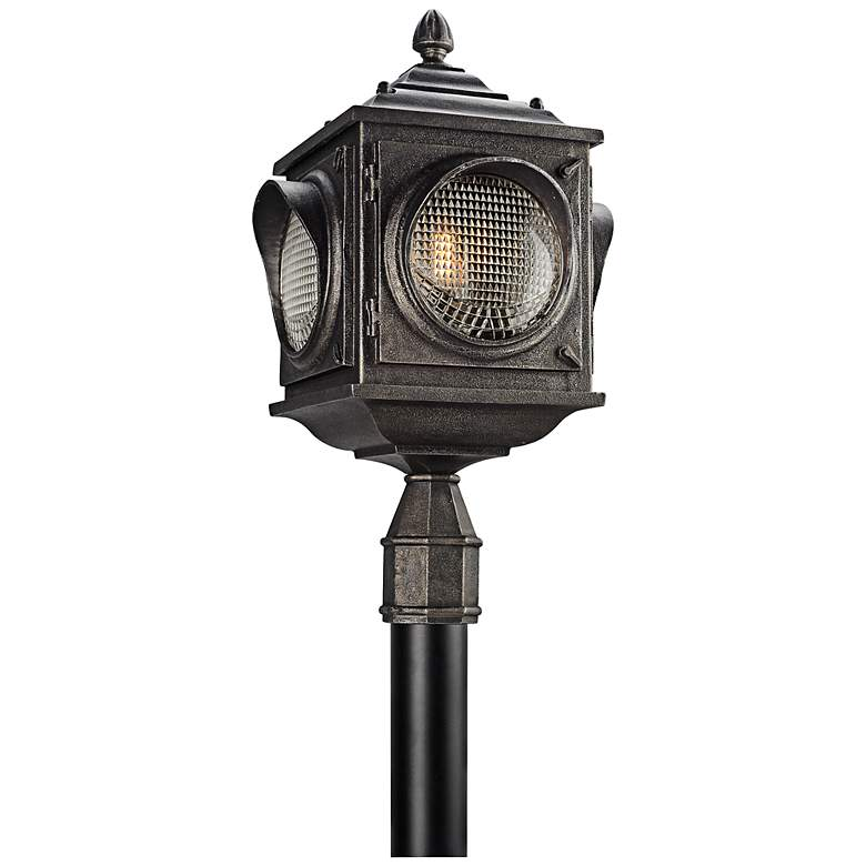 "Main Street 24 1/4""H Vintage Pewter Outdoor LED Post Light"