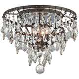 """Meritage 20"""" Wide 4-Light Mercury Crystal Ceiling Light"""