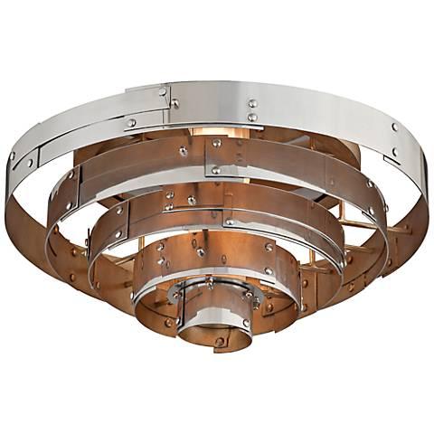 "Mitchel Field 18""W Recycled Aero Metal LED Ceiling Light"