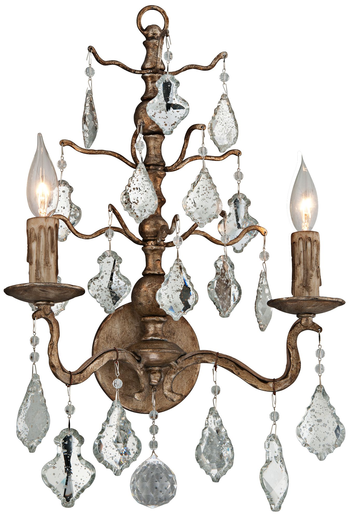 Siena 16 3/4 H Vienna Bronze Antique Mirror Wall Sconce  sc 1 st  L&s Plus : antique mirror sconce - www.canuckmediamonitor.org