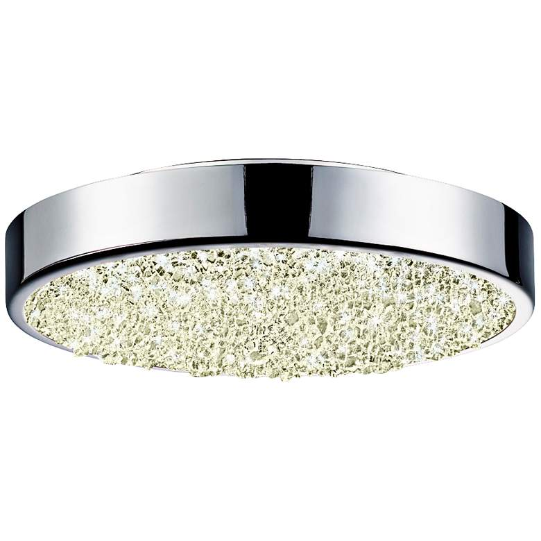 "Sonneman Dazzle 8"" Wide Round Chrome LED Ceiling Light"