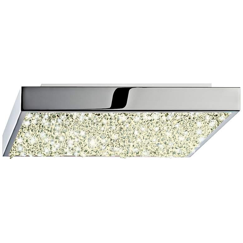 """Sonneman Dazzle 10"""" Wide Square Chrome LED Ceiling Light"""