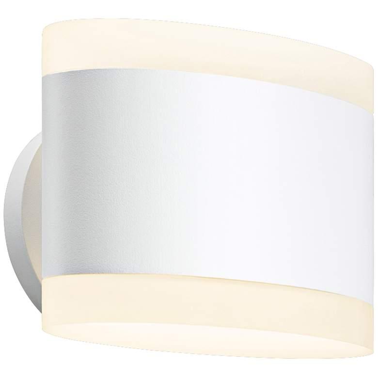 "Sonneman Ellipses 5 1/2"" High Textured White LED Wall Sconce"
