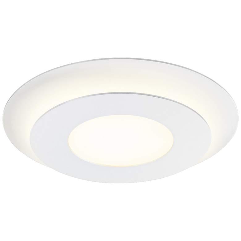 "Sonneman Offset 16"" Wide Textured Round LED Ceiling Light"