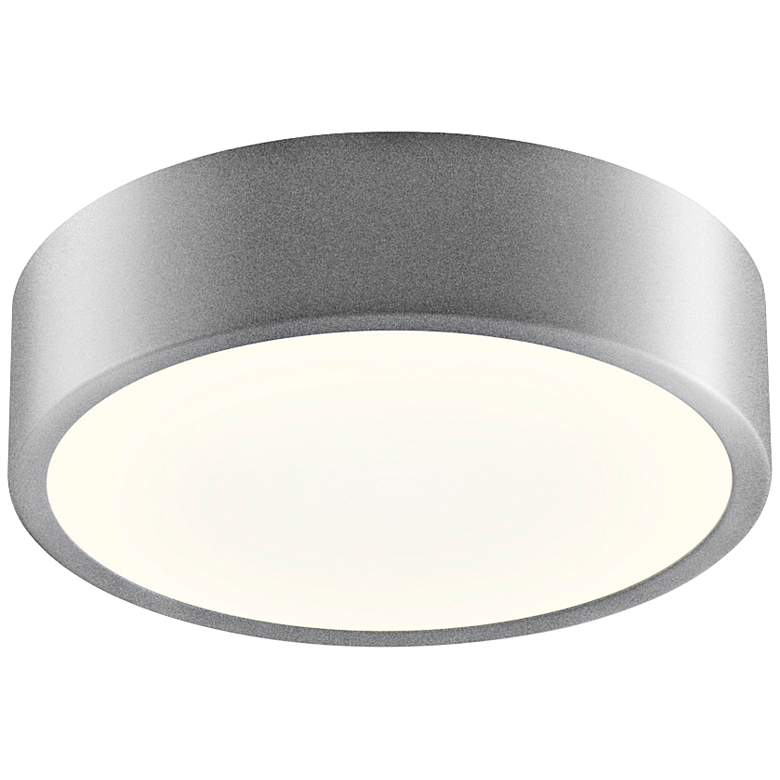 """Sonneman Pi 8""""W Satin Aluminum Round LED Ceiling Light"""