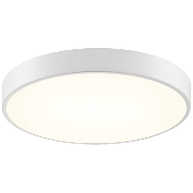 """Sonneman Pi 16""""W Textured White Round LED Ceiling Light"""