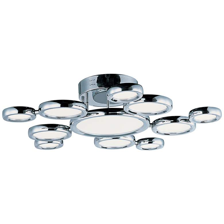 """ET2 Timbale 32"""" Wide Polished Chrome LED Ceiling Light"""