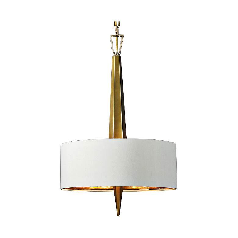 """Uttermost Obeliska 16"""" Wide Warm Gold Chandelier"""