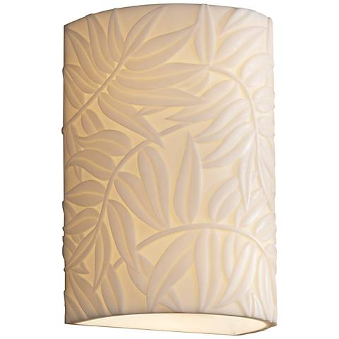 "Porcelina 10 1/2"" High Bamboo 1-Light Outdoor Wall Light"