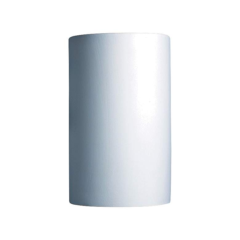 """Ambiance 12 1/2""""H Large Bisque Ceramic Outdoor Wall Light"""