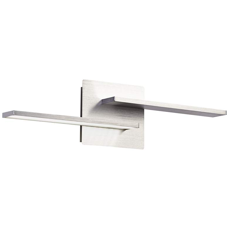 """Two Linears 5 1/2"""" High LED Brushed Aluminum Wall Sconce"""