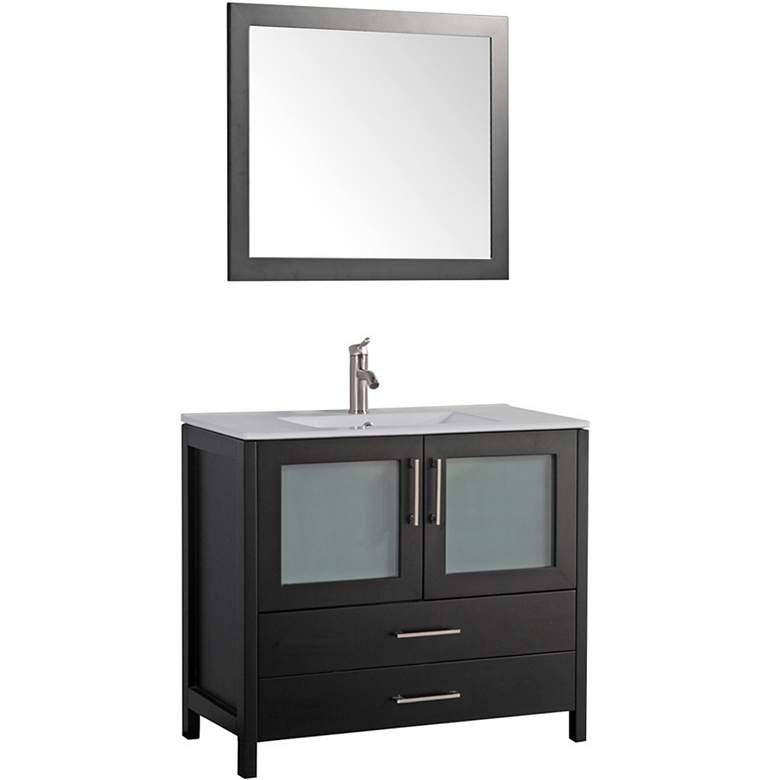 "Argentina 48"" Espresso 2-Door Bath Vanity and Mirror Set"