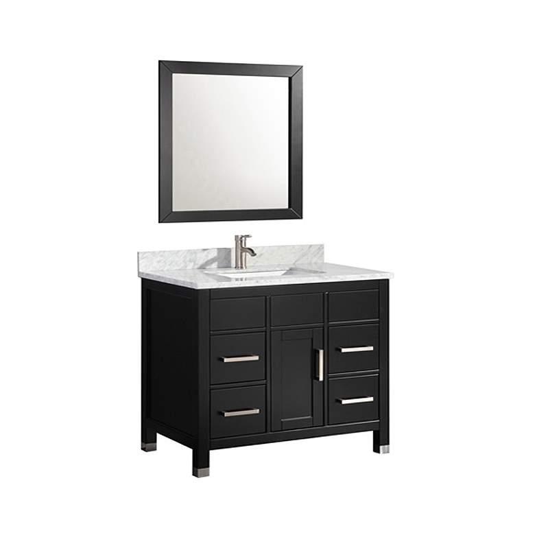 "Ricca 36"" Espresso Single-Sink Bathroom Vanity and Mirror"
