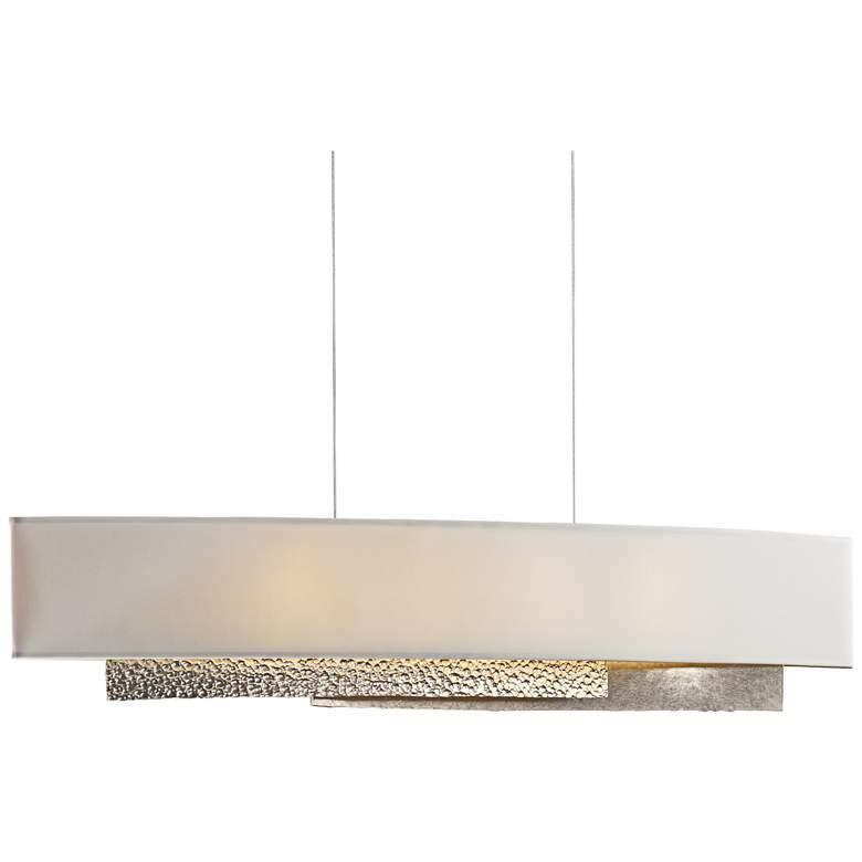 "Hubbardton Forge Oceanus 42"" Wide LED Gold Linear Pendant"