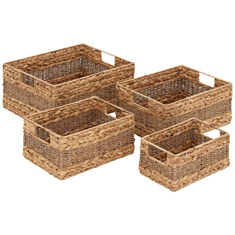 Madlyn 4-Piece Seagrass Basket Set