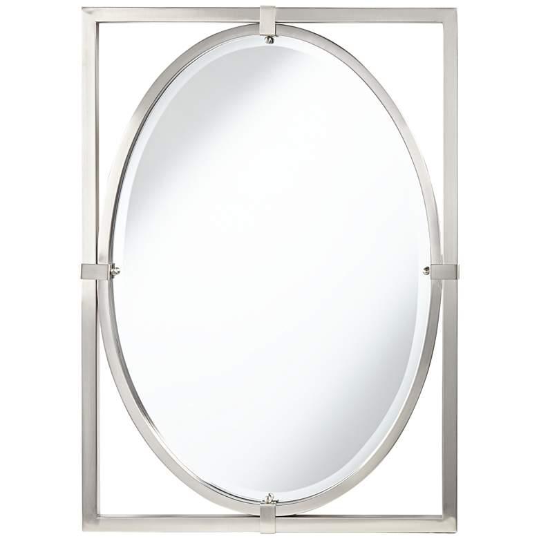 "Uttermost Akita Brushed Nickel 24"" x 34"" Wall Mirror"