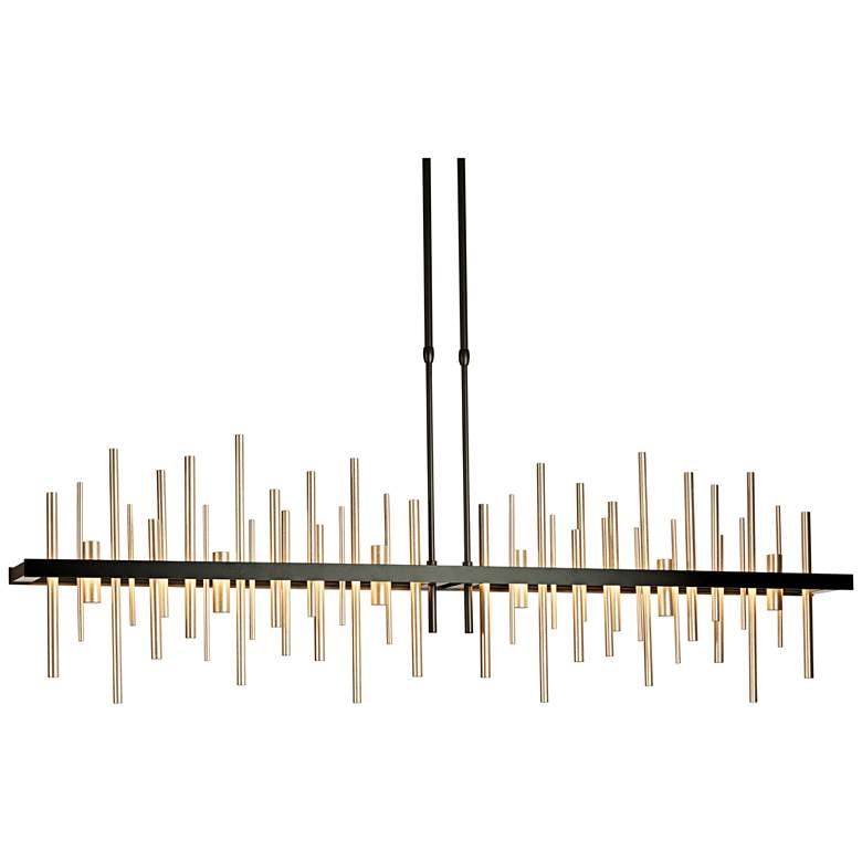 "Hubbardton Forge Cityscape LED 52"" Wide Soft Gold Pendant"