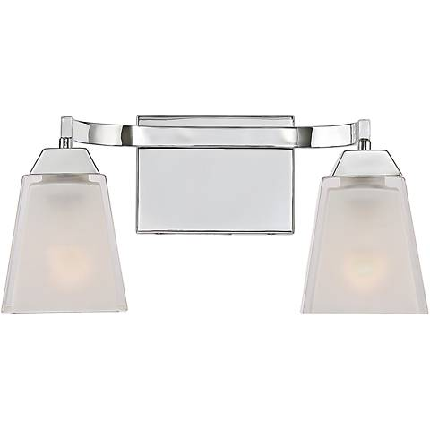 "Quoizel Loft 15"" Wide Polished Chrome Bathroom Lighting"