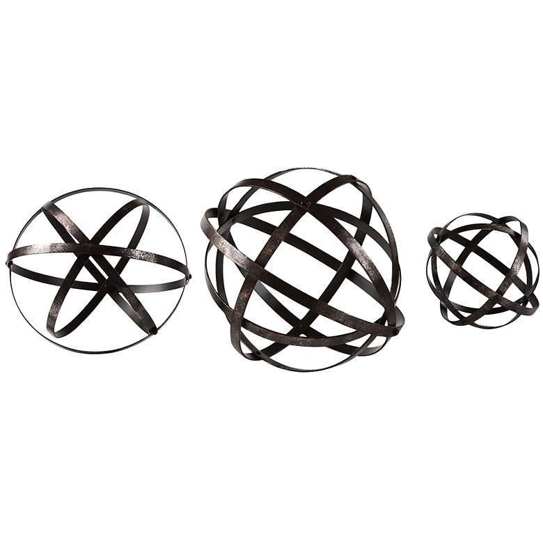 Stetson Dark Bronze Open Spheres - Set of 3 by Uttermost