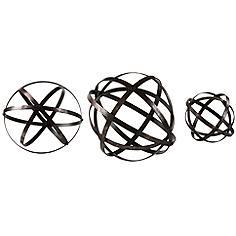 Uttermost Stetson 3-Piece Dark Bronze Sphere Set