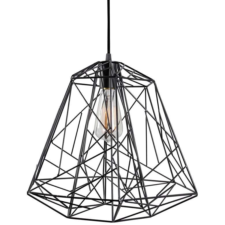 "Varaluz Wright Stuff 15"" Wide Black Pendant Light"