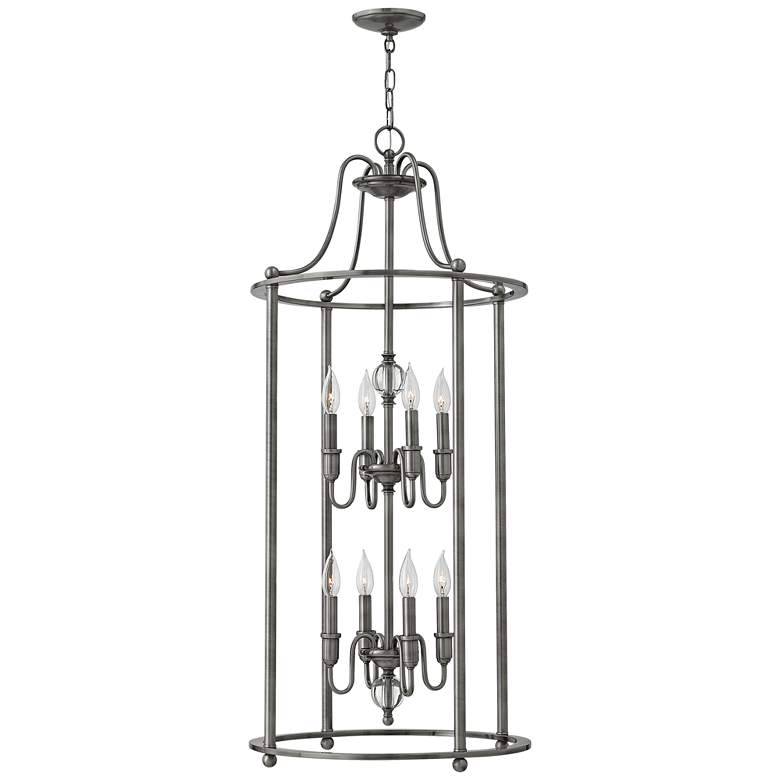 "Hinkley Elaine 19"" Wide Antique Nickel 8-Light Chandelier"