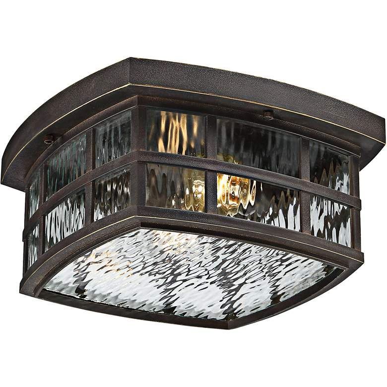 "Stonington 12"" Wide Palladian Bronze Outdoor Ceiling Light"