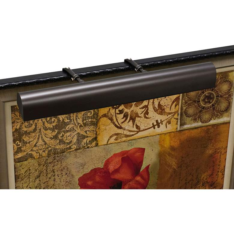 """House of Troy 24""""W Mahogany Bronze Plug-In Picture Light"""