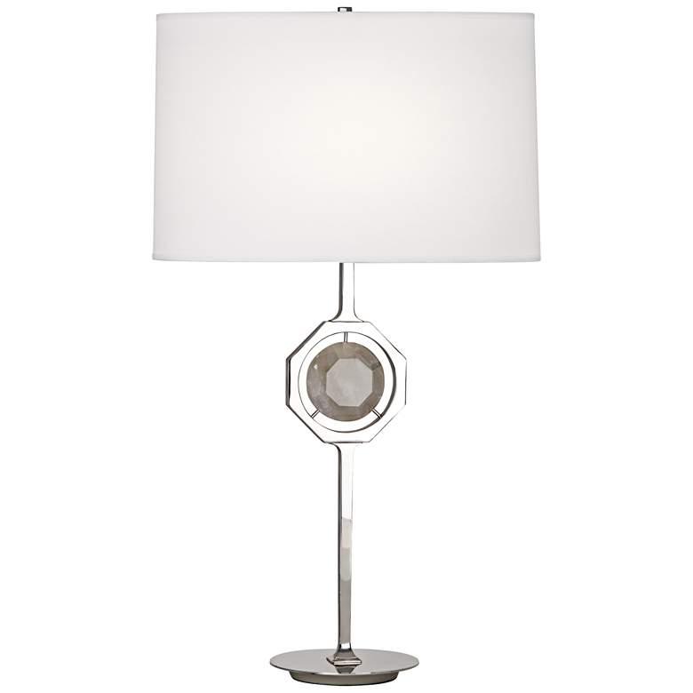 Robert Abbey Hope Polished Nickel Rock Crystal Table Lamp