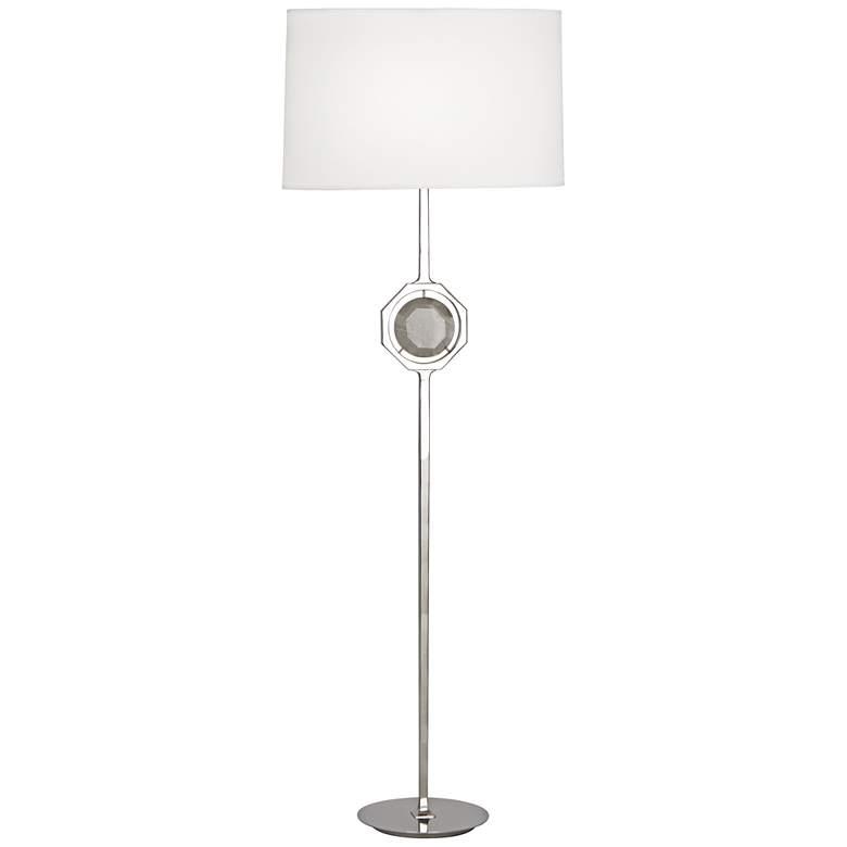 "Robert Abbey Hope 61 1/4"" High Nickel and Crystal Floor Lamp"