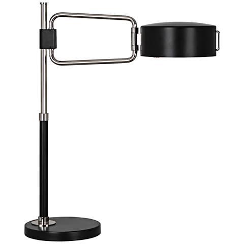 Robert Abbey Simon Satin Black Polished Nickel Table Lamp