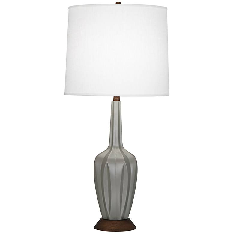 Robert Abbey Cecilia Tall Smoky Taupe Ceramic Table Lamp