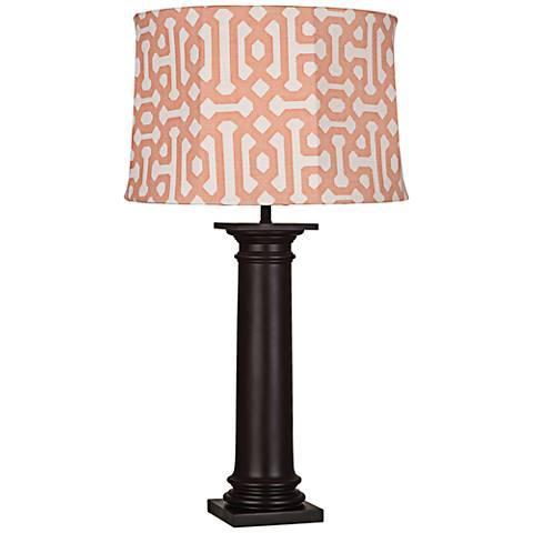 Robert Abbey Phoebe Orange Fretwork Outdoor Table Lamp