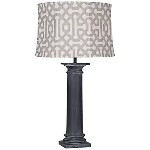 Robert Abbey Phoebe Gray Fretwork Zinc Outdoor Table Lamp
