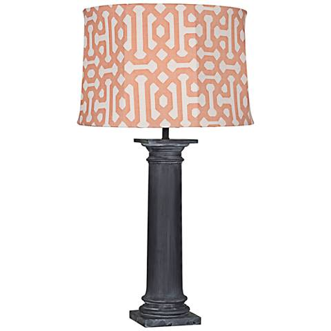 Robert Abbey Phoebe Orange Shade Zinc Outdoor Table Lamp