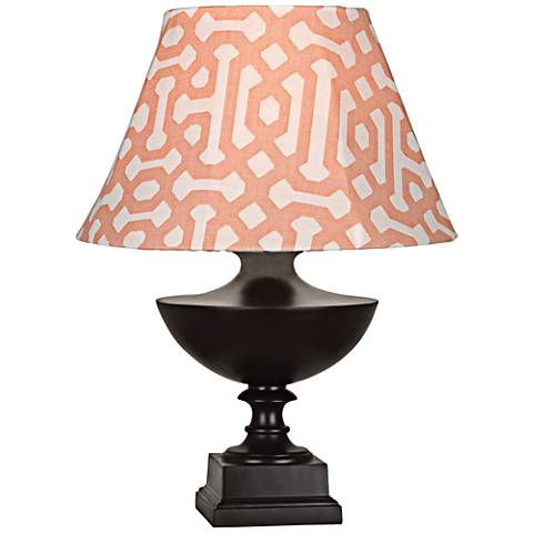 Robert Abbey Freya Orange Shade Java Outdoor Table Lamp