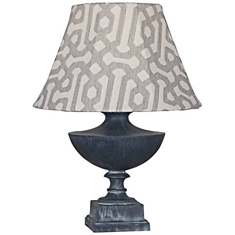 Robert Abbey Freya Gray Fretwork Zinc Outdoor Table Lamp