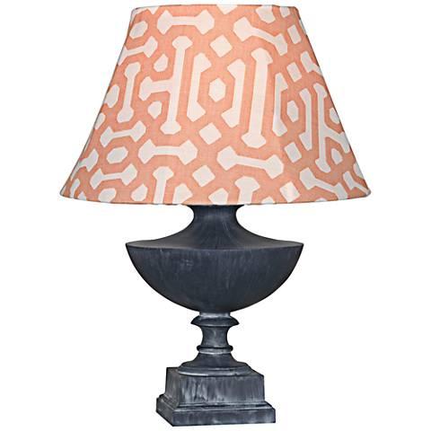 Robert Abbey Freya Orange Shade Zinc Outdoor Table Lamp