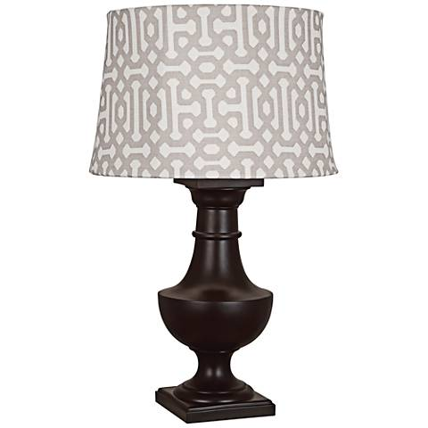 Robert Abbey Bronte Gray Fretwork Java Outdoor Table Lamp