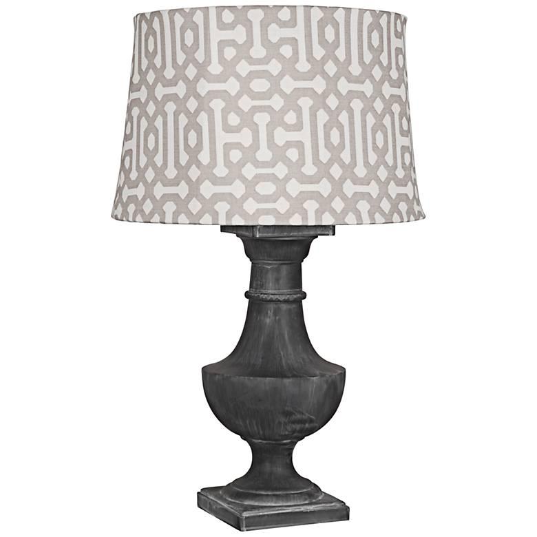 Robert Abbey Bronte Gray Fretwork Zinc Outdoor Table Lamp