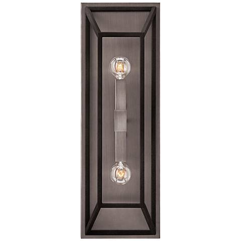 "Hinkley Fulton 22 1/4"" High Aged Zinc 2-Light Wall Sconce"