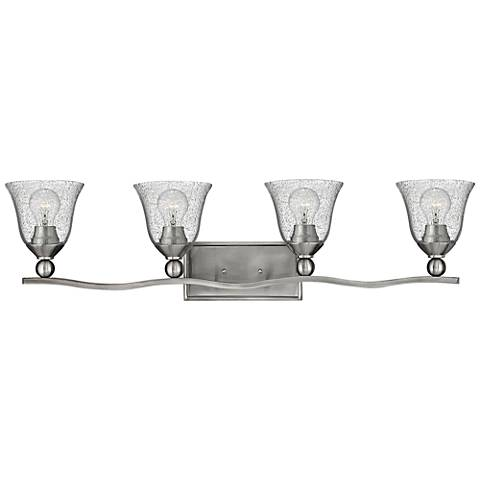 "Bolla 35 3/4"" Wide Brushed Nickel 4-Light Bath Light"