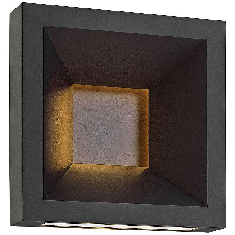 "Hinkley Plaza 10"" High Bronze LED Outdoor Wall Light"