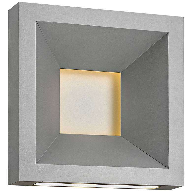 "Hinkley Plaza 10"" High Titanium LED Outdoor Wall Light"