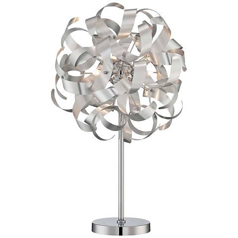 "Lite Source 27"" High Maclean Chrome Spiral Table Lamp"